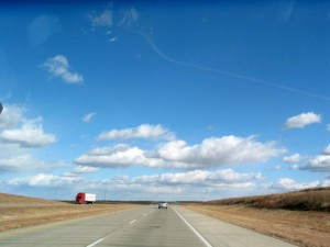 wide highway under a Texas sky