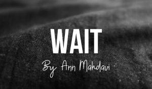 Wait, by Ann Mahdavi